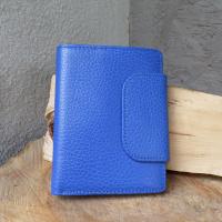 Kleines Portemonnaie Leder blau